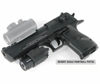 Desert Eagle Paintball Pistol and Quick Detachable Tactical Flashlight Kit