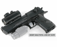 Desert Eagle Paintball Pistol and 1x30 Red Dot Scope Package