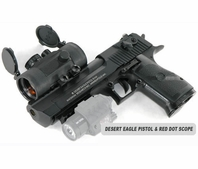 Desert Eagle Paintball Pistol and 1x46 Red Dot Scope Package
