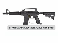 US Army Alpha Black Tactical MODs with E-Grip