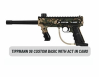 Tippmann 98 Custom Platinum Series with ACT in Camo