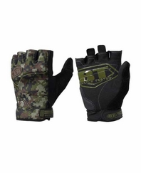 BT 08 Combat Half Finger Camo Paintball Gloves X-Large
