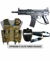 Tippmann X7 Paintball Marker with Electronic Trigger Elite Power Package