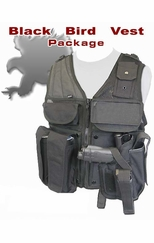 Black Bird Paintball Pistol Vest Package w/ Marker