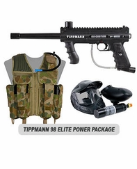 Tippmann 98 Custom Platinum with ACT and Response Trigger Elite Power Package