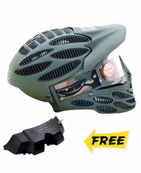 JT Flex 8 Head Guard with Vortex Fan – Olive