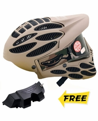 JT Flex 8 Head Guard with Vortex Fan – Sand
