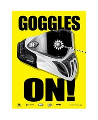 KAS Paintball Safety Warning Banner - Goggles On