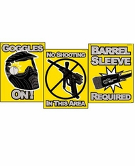 JRW Paintball Safety Warning Signs