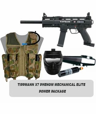 Tippmann X7 Phenom Mechanical Marker Elite Power Package