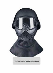 Eye Tactical Helmet with Mask and Drape