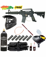 US Army Alpha Black Egrip Edition Paintball Gun MEGA Set