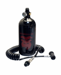 Guerrilla Air 48ci 3000 psi HPA Tank and Coiled Remote Combo