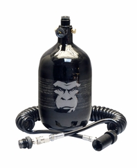 Guerrilla Air 68ci 4500 psi HPA Tank and Coiled Remote Combo