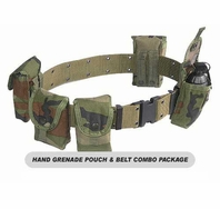 MOLLE Hand Grenade Pouch and Belt Combo Package