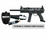 Tippmann X7 Phenom Paintball Marker Basic Power Package