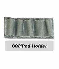 CO2/Pod Holder for Tactical Vest