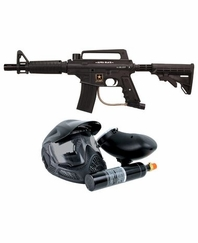 US Army Alpha Black Tactical Paintball Gun Edition Powerpack