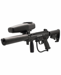Tippmann 2011 A5 Flatline Stealth Sniper Paintball Gun Kit