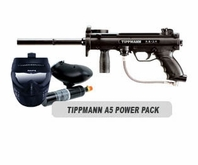 Tippmann A-5 Paintball Marker with Electronic Trigger Basic Power Package