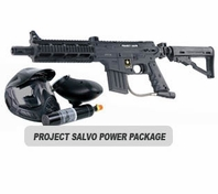 US Army Project Salvo Paintball Marker with Electronic Trigger Basic Power Package