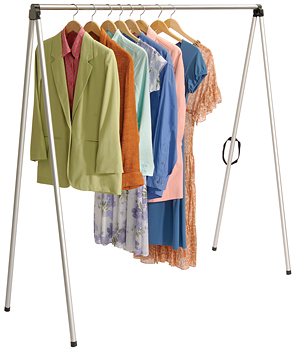 Garment Hanger Bar Collapsible Portable