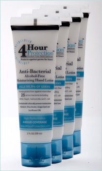 4 Hour Protection:4 Hour Protection 4 Pack of 2 oz. Travel Size Tube