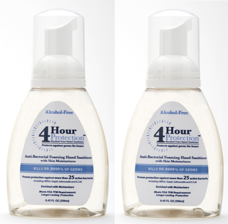 4 Hour Protection:Two 8.45 oz Foaming Pump