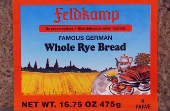 Feldkamp Whole Rye Bread