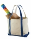 Liberty Custom Embroidered  Canvas Boater Tote Bag
