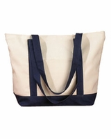 Big Accessories Canvas Boat Tote Bag - Personalize with Boat Name or Logo