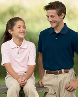 Custom Embroidered Logo Shirt for Children by Harriton