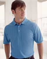 Men's Corporate Logo Herringbone Polo Shirt