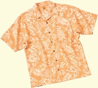 SOUTH BEACH Jacquard Printed Silk Camp (Men's)