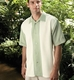 Cubavera Pieced Beford Cord Camp Shirt