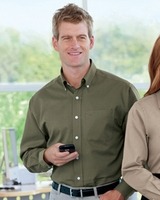 Embroidered Shirt by Devon & Jones Advantage Pima Twill Shirt Softer Stain Stopper