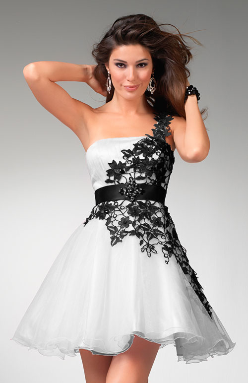 Clarisse prom dress 1511 - Pink or white short formal dresses ...