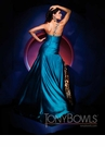 One shoulder evening gown 11174