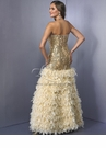 Landa Design Feather Prom Gown 114
