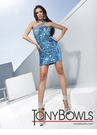 Turquoise or Black Short Dress Tony Bowls 11271