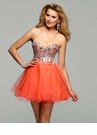 Clarisse Orange Short Prom Dress 2016 - More Colors Available!