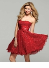 Short Sequin Red Gown Clarisse 2020