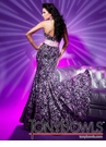 Sequin Tony Bowls Gown 112744