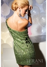 2012 Terani Couture Green Prom Dress 751 - End of Year Sale