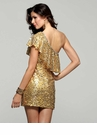 Clarisse Short Gold Gown 2031
