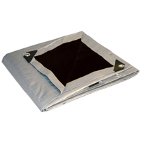 Super Heavy Duty Silver Black Poly Tarps