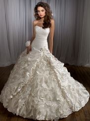 Dramatic Ruffled Skirt Couture Bridal Gown Angelina Faccenda By Mori Lee 1228