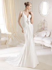 Marey Sleeveless Fitted La Sposa Bridal Gown by Pronovias