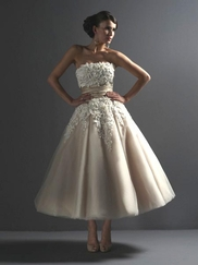 Natural Coffee Bridal Dress Justin Alexander 8465