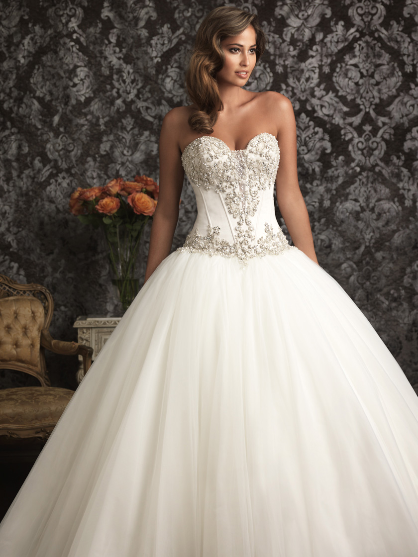Allure Bridals 9017 Hand Beaded Wedding Ball gown 9017 ...